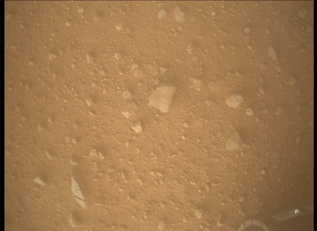 NASA's Mars rover Curiosity acquired this image using its Mars Descent Imager (MARDI) on Sol 383