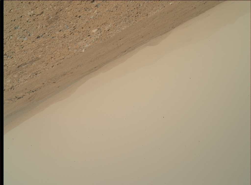 NASA's Mars rover Curiosity acquired this image using its Mars Hand Lens Imager (MAHLI) on Sol 388