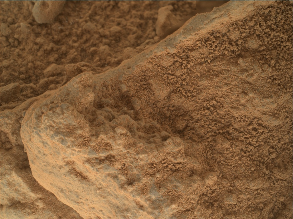 NASA's Mars rover Curiosity acquired this image using its Mars Hand Lens Imager (MAHLI) on Sol 400