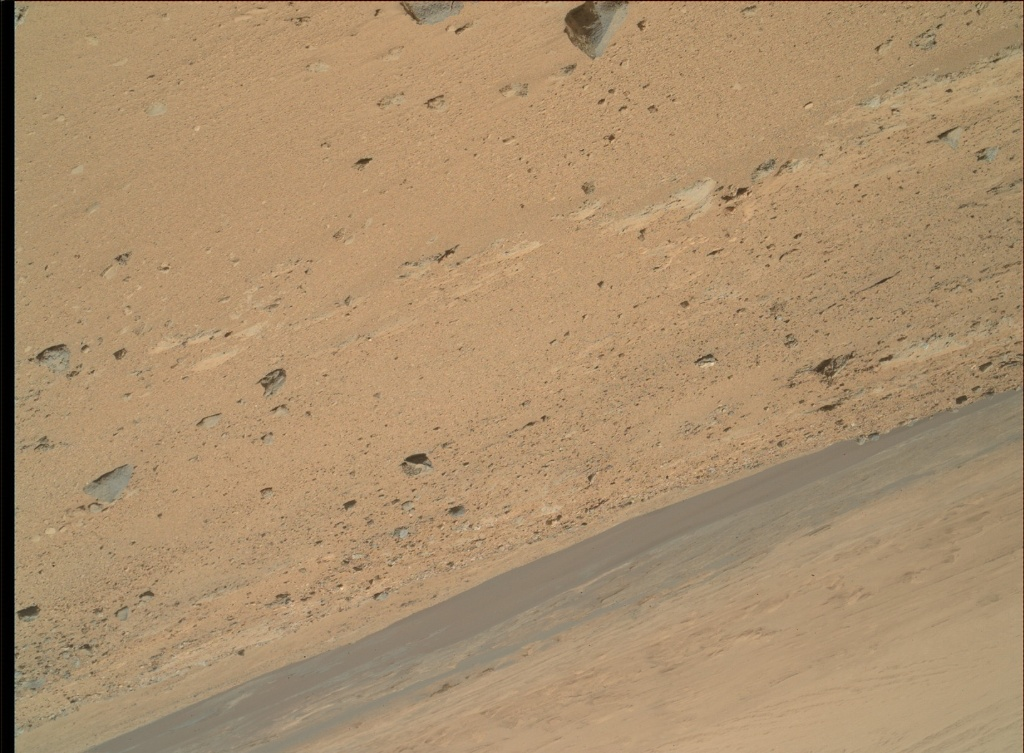 NASA's Mars rover Curiosity acquired this image using its Mars Hand Lens Imager (MAHLI) on Sol 402