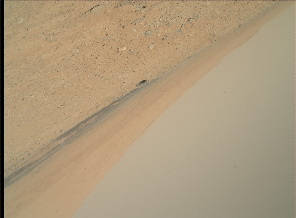 NASA's Mars rover Curiosity acquired this image using its Mars Hand Lens Imager (MAHLI) on Sol 406
