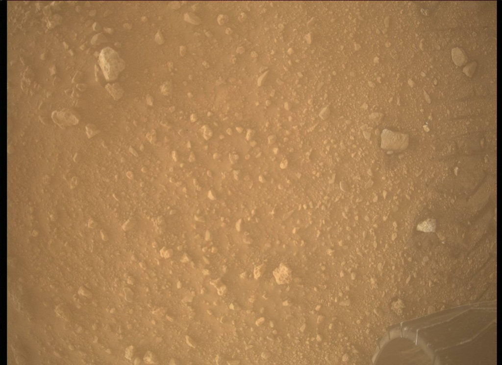 NASA's Mars rover Curiosity acquired this image using its Mars Descent Imager (MARDI) on Sol 409