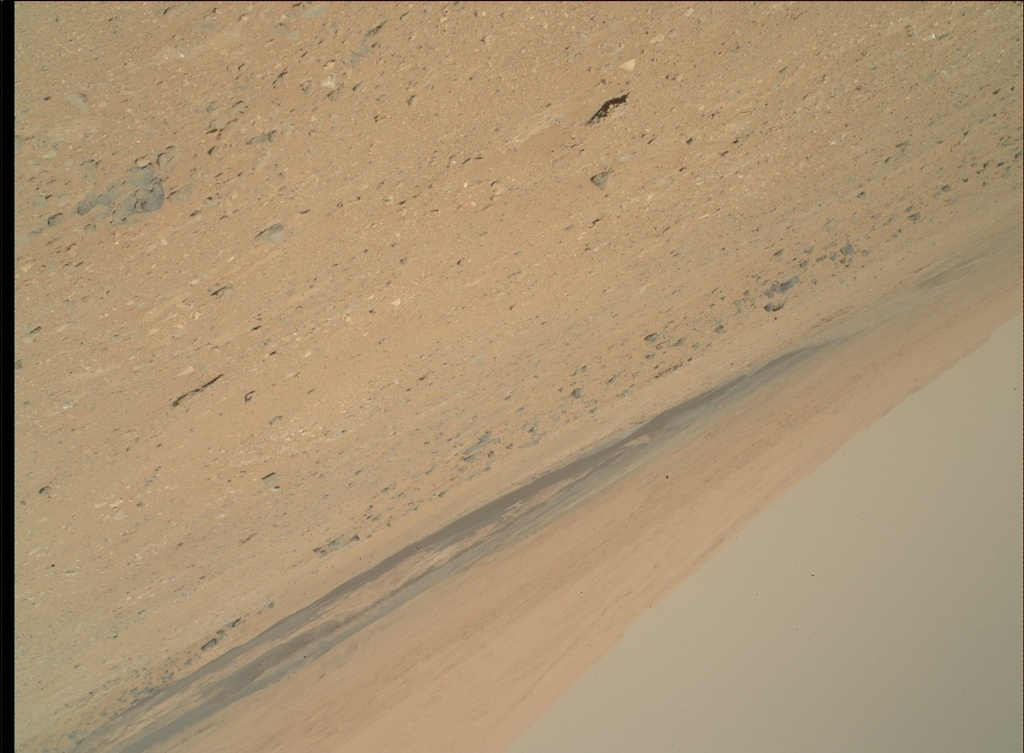 NASA's Mars rover Curiosity acquired this image using its Mars Hand Lens Imager (MAHLI) on Sol 410