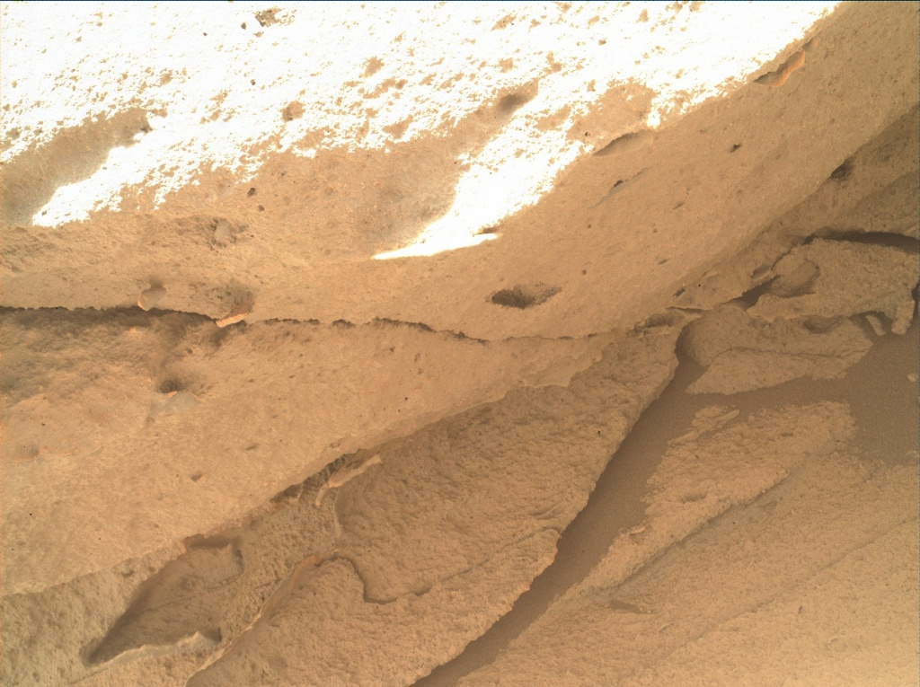 NASA's Mars rover Curiosity acquired this image using its Mars Hand Lens Imager (MAHLI) on Sol 443