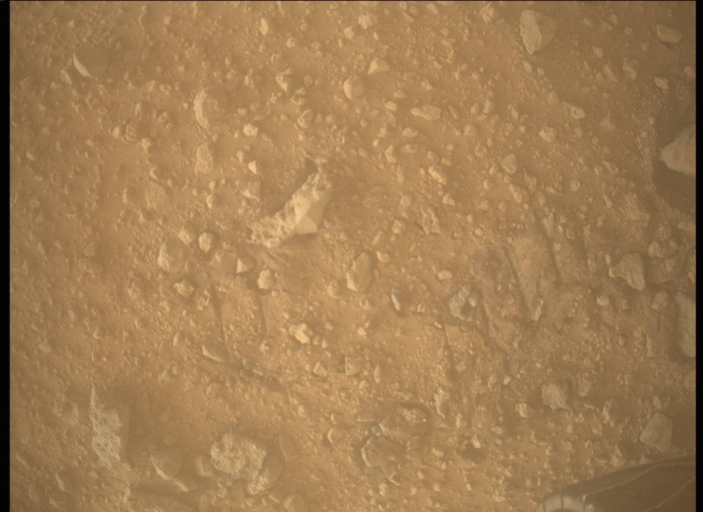 NASA's Mars rover Curiosity acquired this image using its Mars Descent Imager (MARDI) on Sol 454