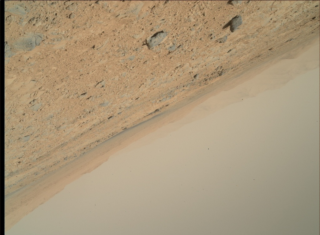 NASA's Mars rover Curiosity acquired this image using its Mars Hand Lens Imager (MAHLI) on Sol 477