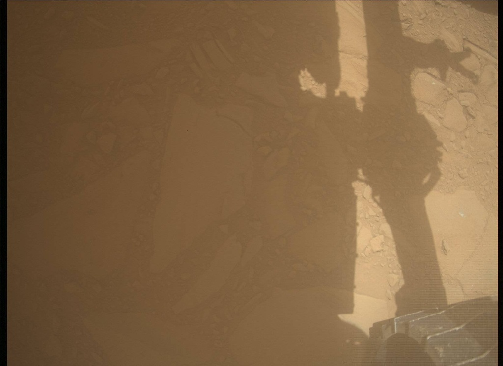 NASA's Mars rover Curiosity acquired this image using its Mars Descent Imager (MARDI) on Sol 490