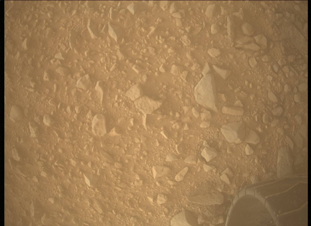 NASA's Mars rover Curiosity acquired this image using its Mars Descent Imager (MARDI) on Sol 494