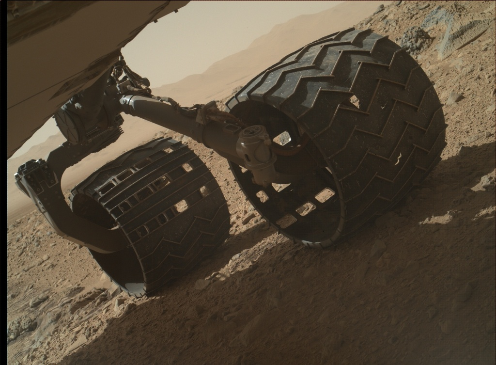 NASA's Mars rover Curiosity acquired this image using its Mars Hand Lens Imager (MAHLI) on Sol 513