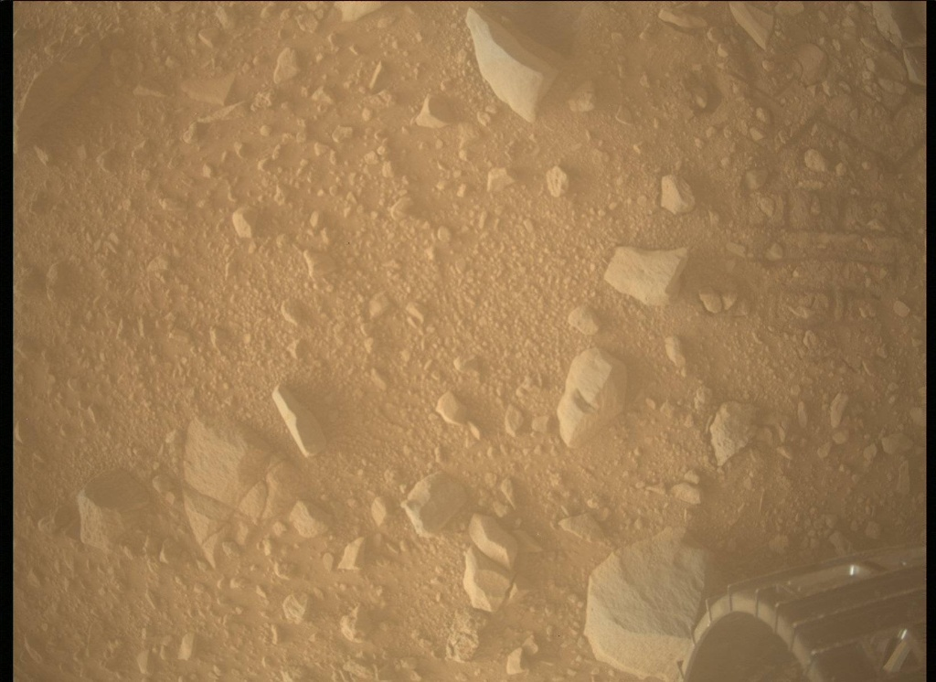 NASA's Mars rover Curiosity acquired this image using its Mars Descent Imager (MARDI) on Sol 515