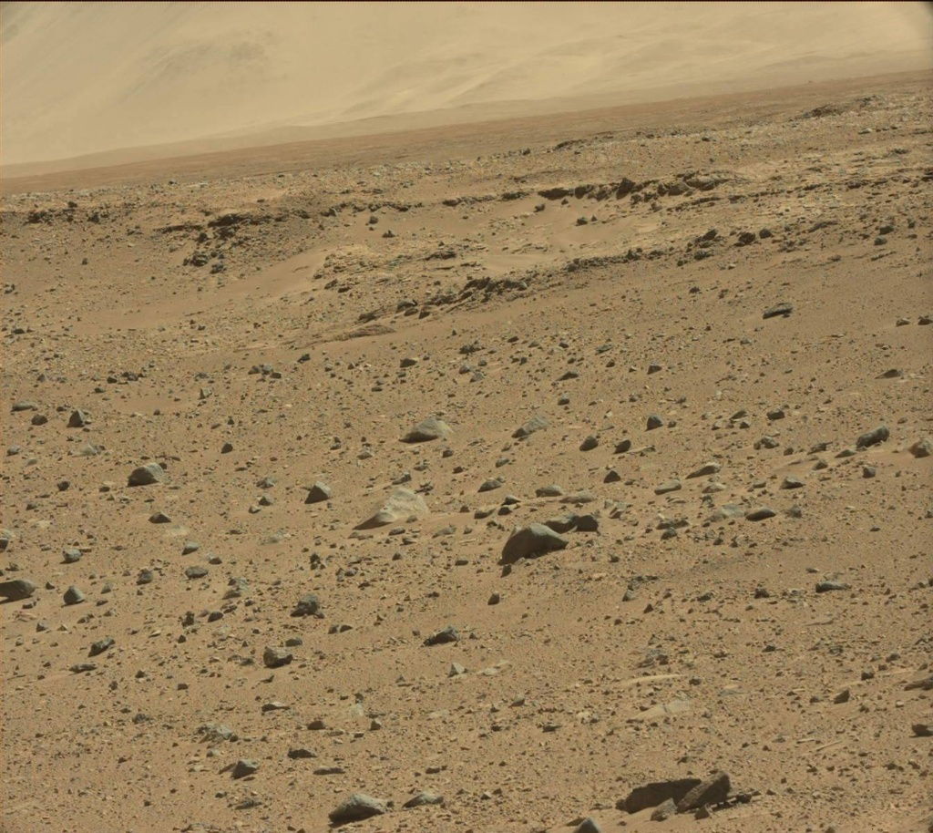 NASA's Mars rover Curiosity acquired this image using its Mast Camera (Mastcam) on Sol 518