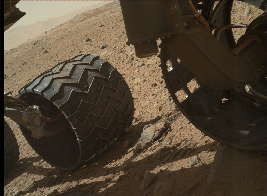NASA's Mars rover Curiosity acquired this image using its Mars Hand Lens Imager (MAHLI) on Sol 518