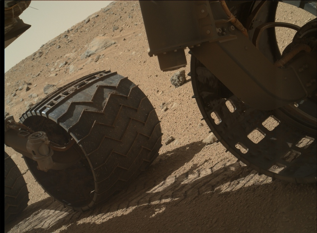 NASA's Mars rover Curiosity acquired this image using its Mars Hand Lens Imager (MAHLI) on Sol 521