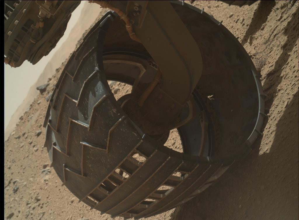 NASA's Mars rover Curiosity acquired this image using its Mars Hand Lens Imager (MAHLI) on Sol 524