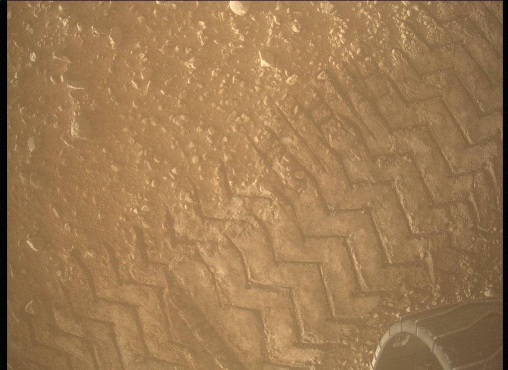 NASA's Mars rover Curiosity acquired this image using its Mars Descent Imager (MARDI) on Sol 525