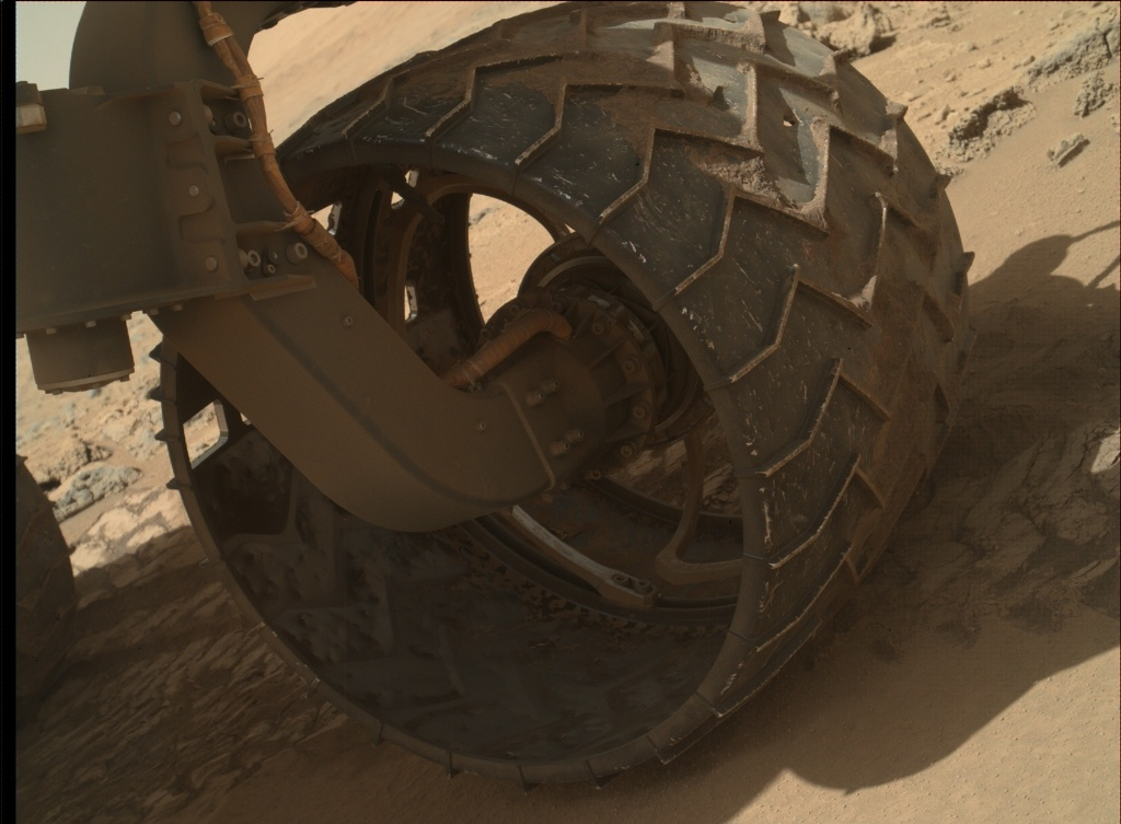 NASA's Mars rover Curiosity acquired this image using its Mars Hand Lens Imager (MAHLI) on Sol 532