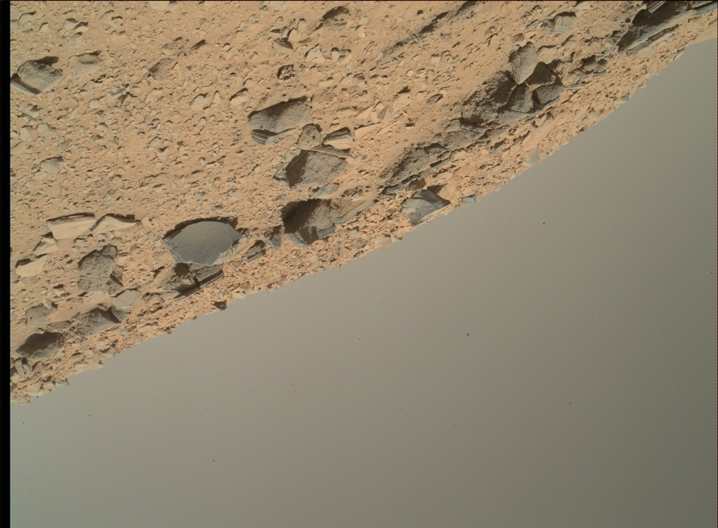 NASA's Mars rover Curiosity acquired this image using its Mars Hand Lens Imager (MAHLI) on Sol 535