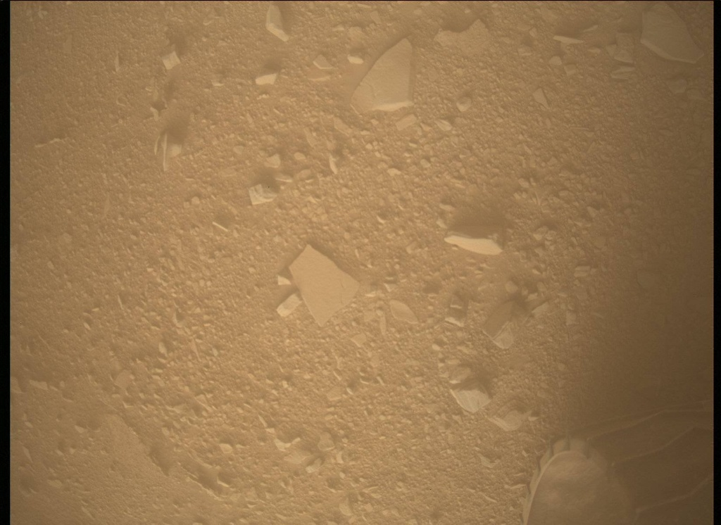 NASA's Mars rover Curiosity acquired this image using its Mars Descent Imager (MARDI) on Sol 535