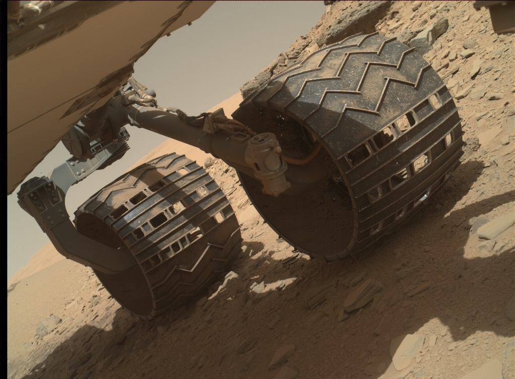 NASA's Mars rover Curiosity acquired this image using its Mars Hand Lens Imager (MAHLI) on Sol 537