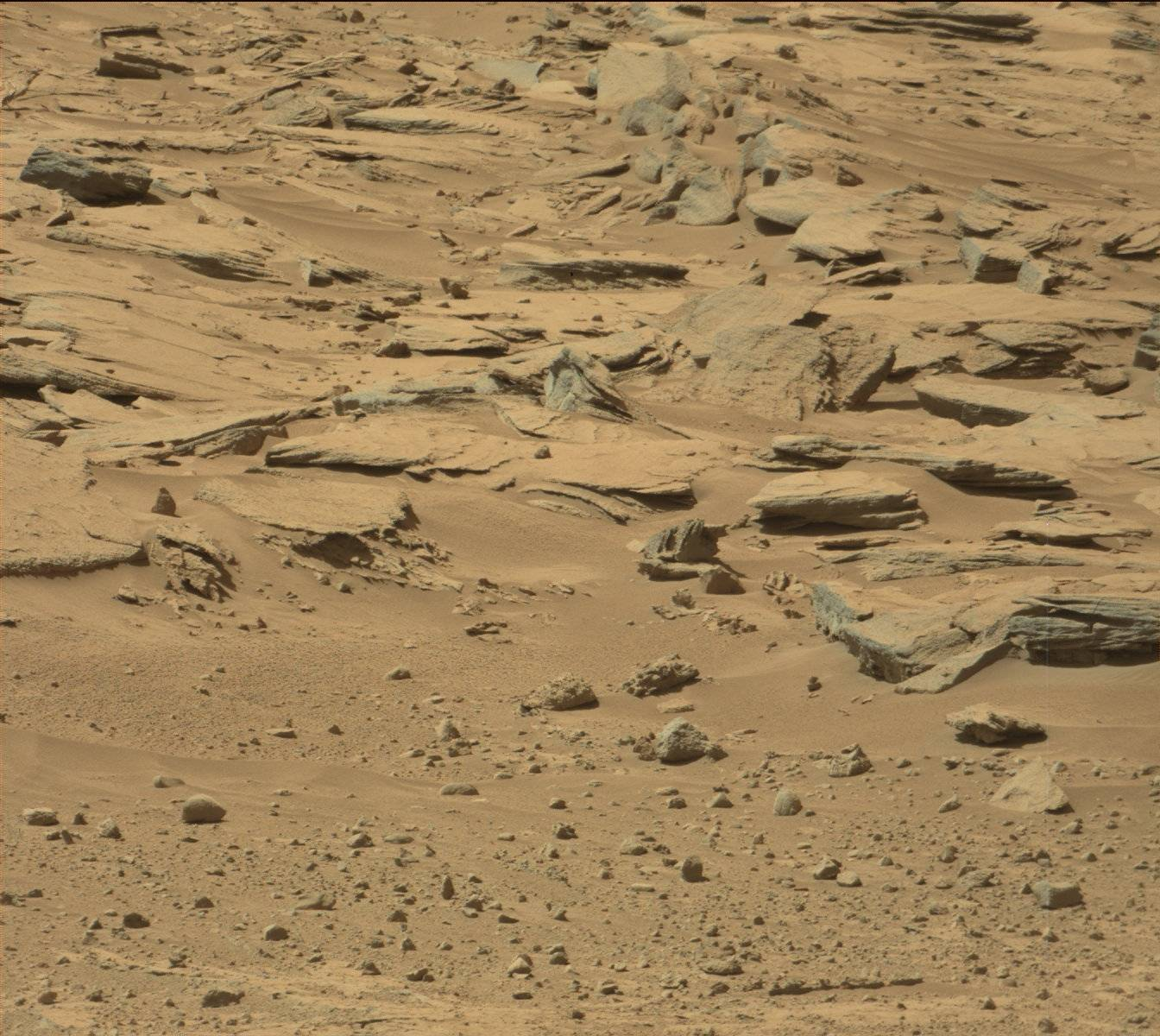 Nasa's Mars rover Curiosity acquired this image using its Mast Camera (Mastcam) on Sol 554