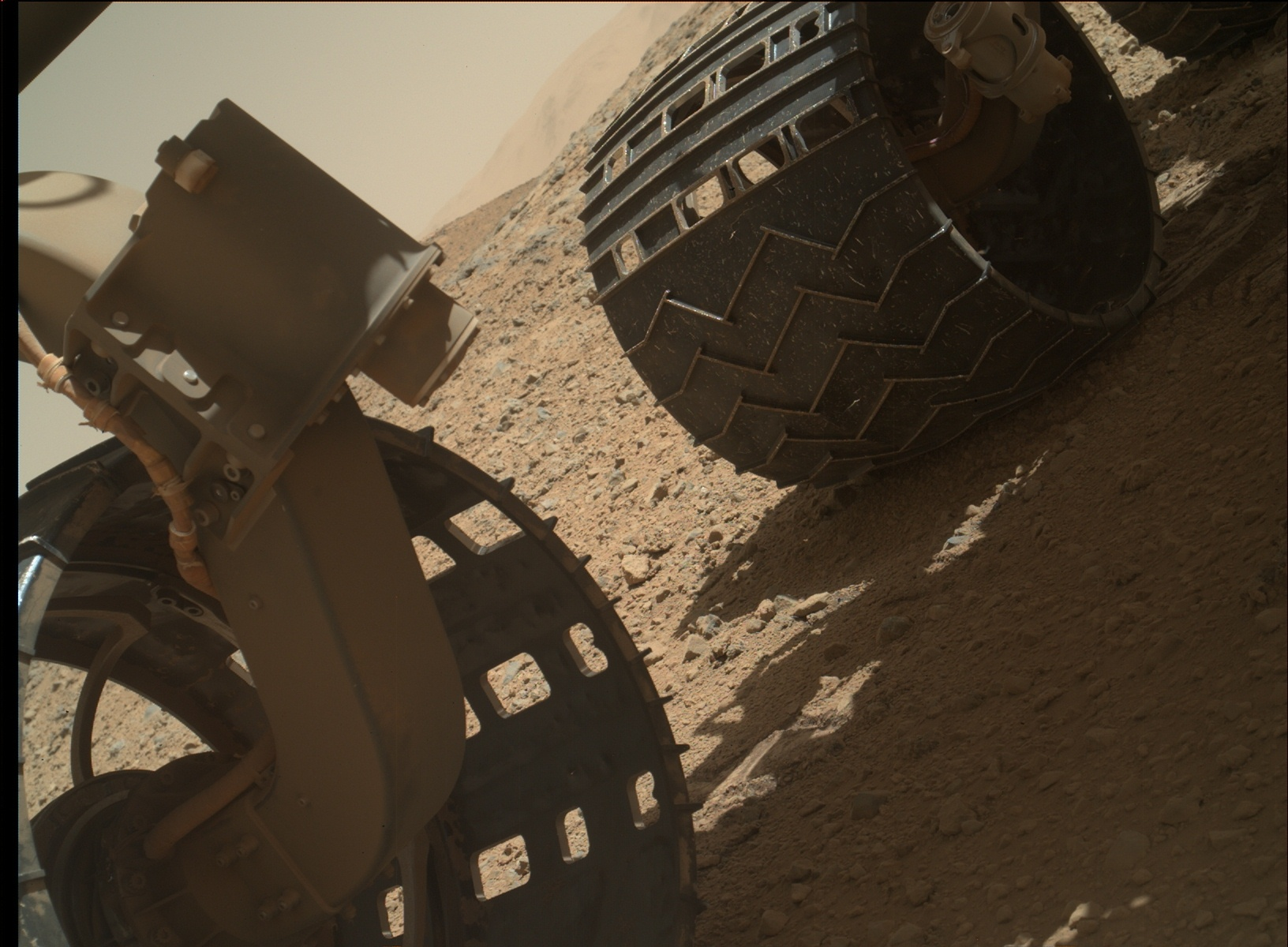 Nasa's Mars rover Curiosity acquired this image using its Mars Hand Lens Imager (MAHLI) on Sol 568