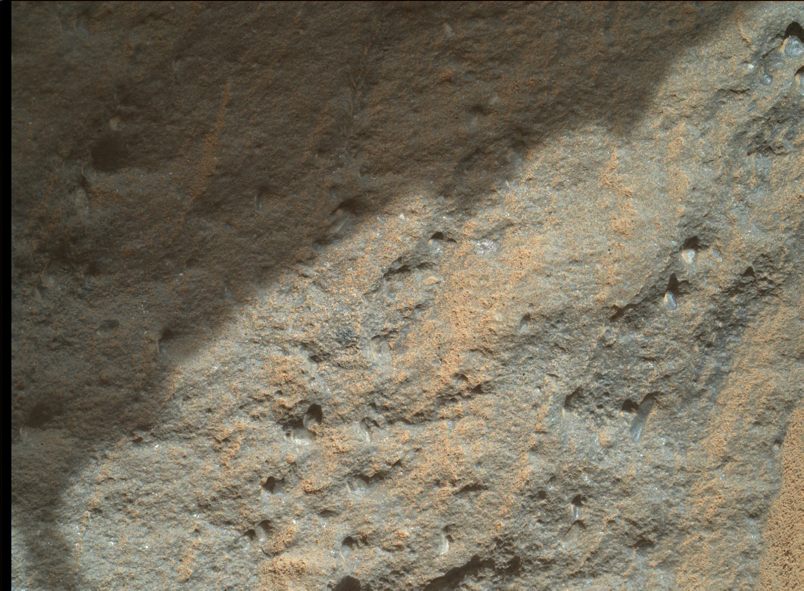 Nasa's Mars rover Curiosity acquired this image using its Mars Hand Lens Imager (MAHLI) on Sol 585
