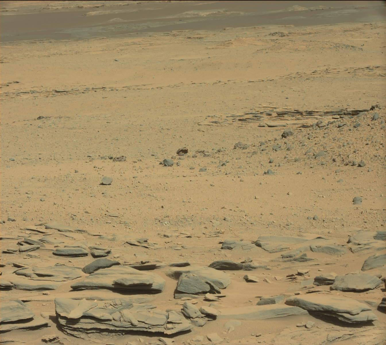 Nasa's Mars rover Curiosity acquired this image using its Mast Camera (Mastcam) on Sol 587