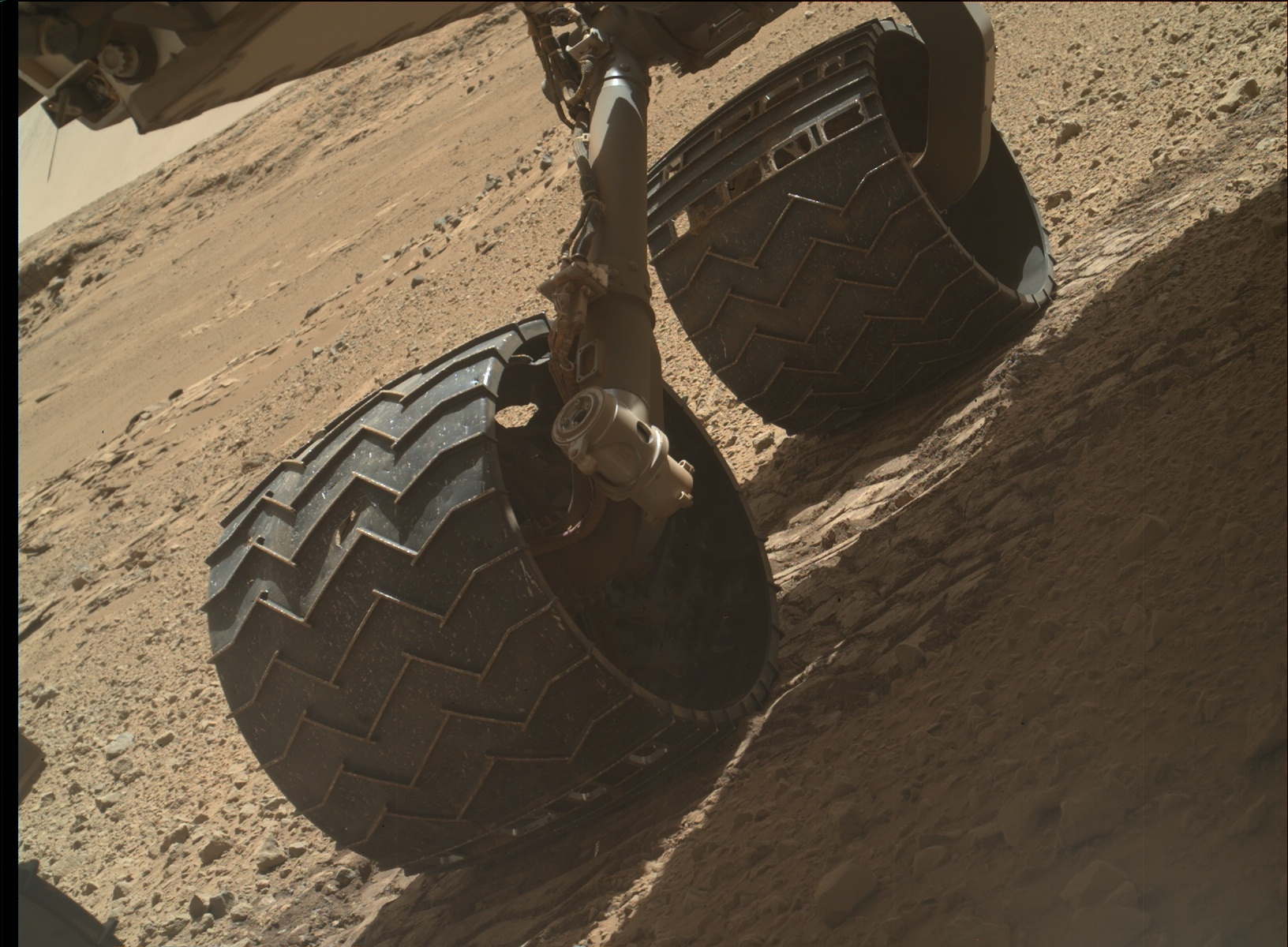 Nasa's Mars rover Curiosity acquired this image using its Mars Hand Lens Imager (MAHLI) on Sol 587