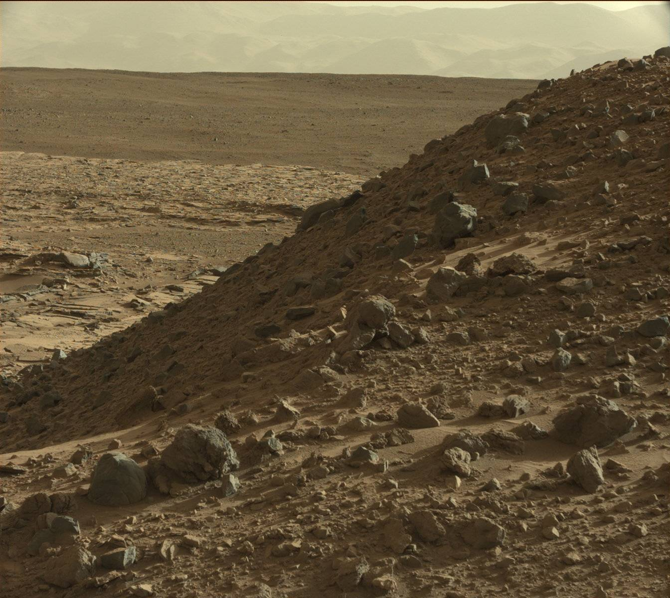 Nasa's Mars rover Curiosity acquired this image using its Mast Camera (Mastcam) on Sol 588