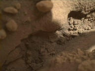 NASA's Mars rover Curiosity acquired this image using its Mars Hand Lens Imager (MAHLI) on Sol 591