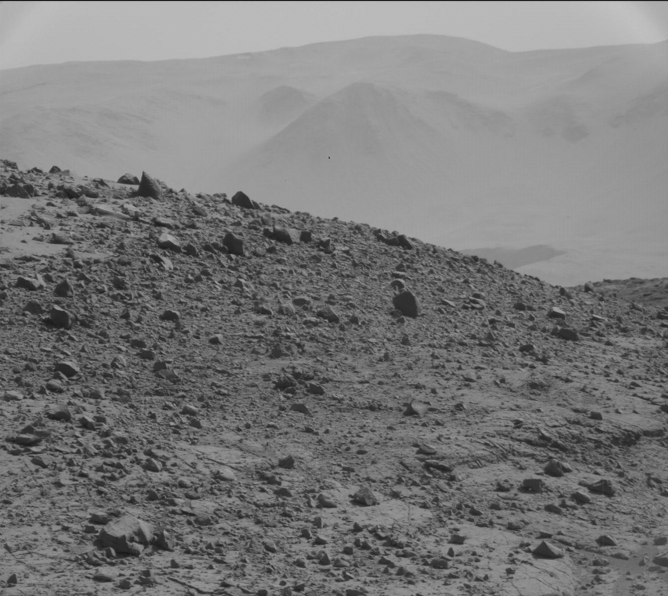 Nasa's Mars rover Curiosity acquired this image using its Mast Camera (Mastcam) on Sol 595
