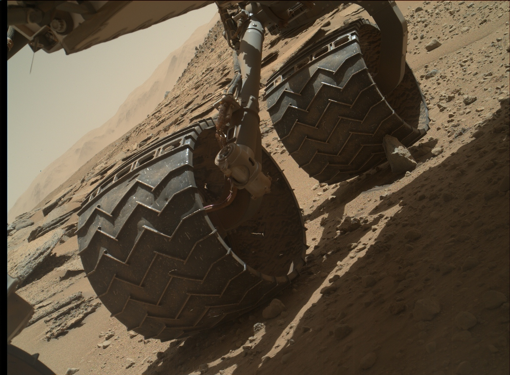 Nasa's Mars rover Curiosity acquired this image using its Mars Hand Lens Imager (MAHLI) on Sol 631, at drive 1472, site number 31