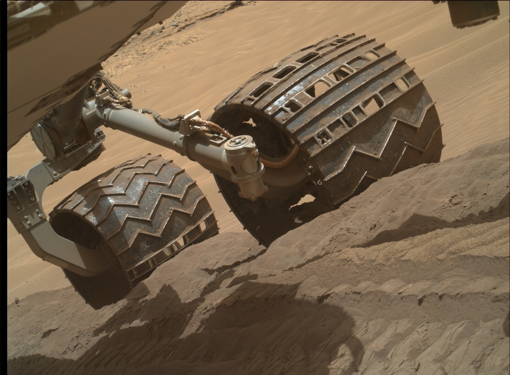 NASA's Mars rover Curiosity acquired this image using its Mars Hand Lens Imager (MAHLI) on Sol 711