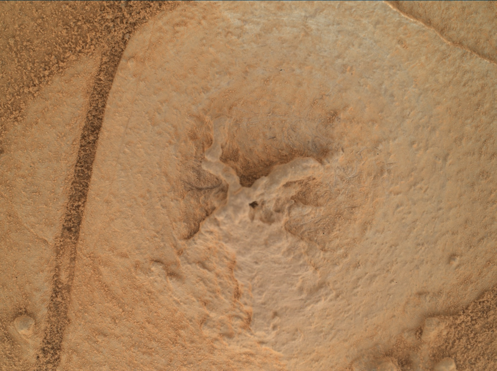 Nasa's Mars rover Curiosity acquired this image using its Mars Hand Lens Imager (MAHLI) on Sol 767