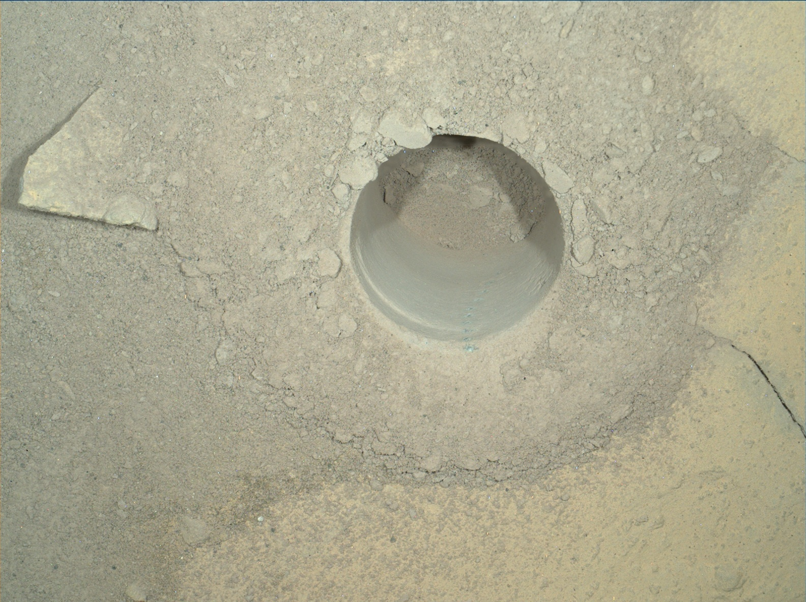 Nasa's Mars rover Curiosity acquired this image using its Mars Hand Lens Imager (MAHLI) on Sol 774