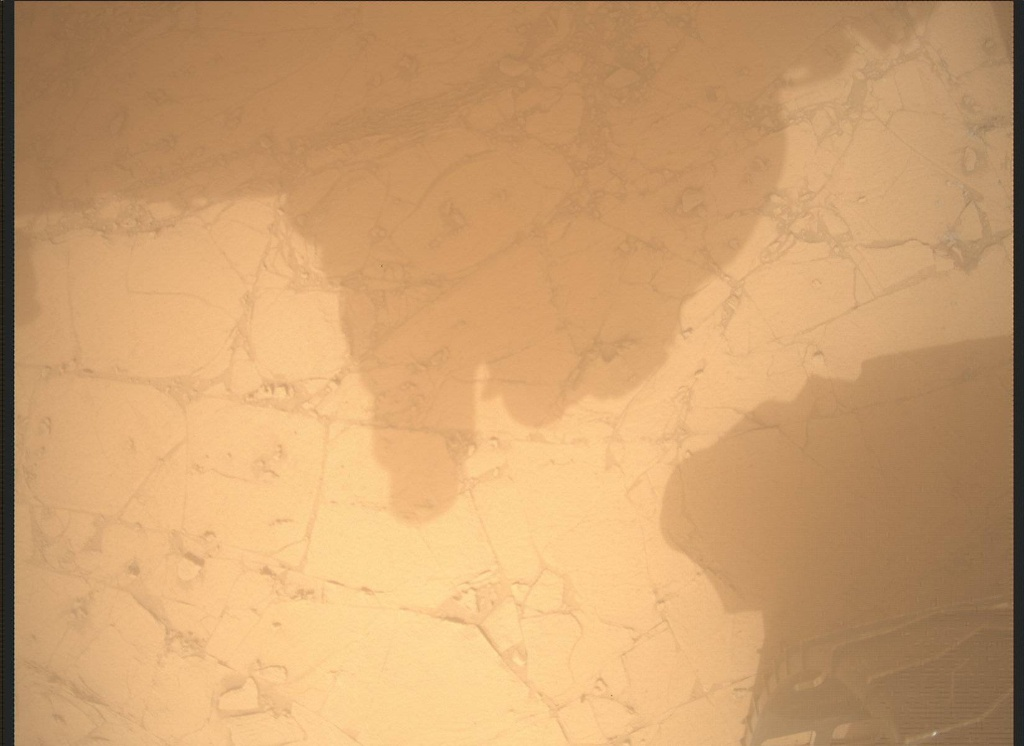 NASA's Mars rover Curiosity acquired this image using its Mars Descent Imager (MARDI) on Sol 794