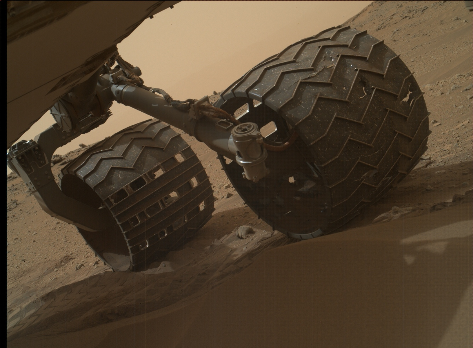 Nasa's Mars rover Curiosity acquired this image using its Mars Hand Lens Imager (MAHLI) on Sol 803