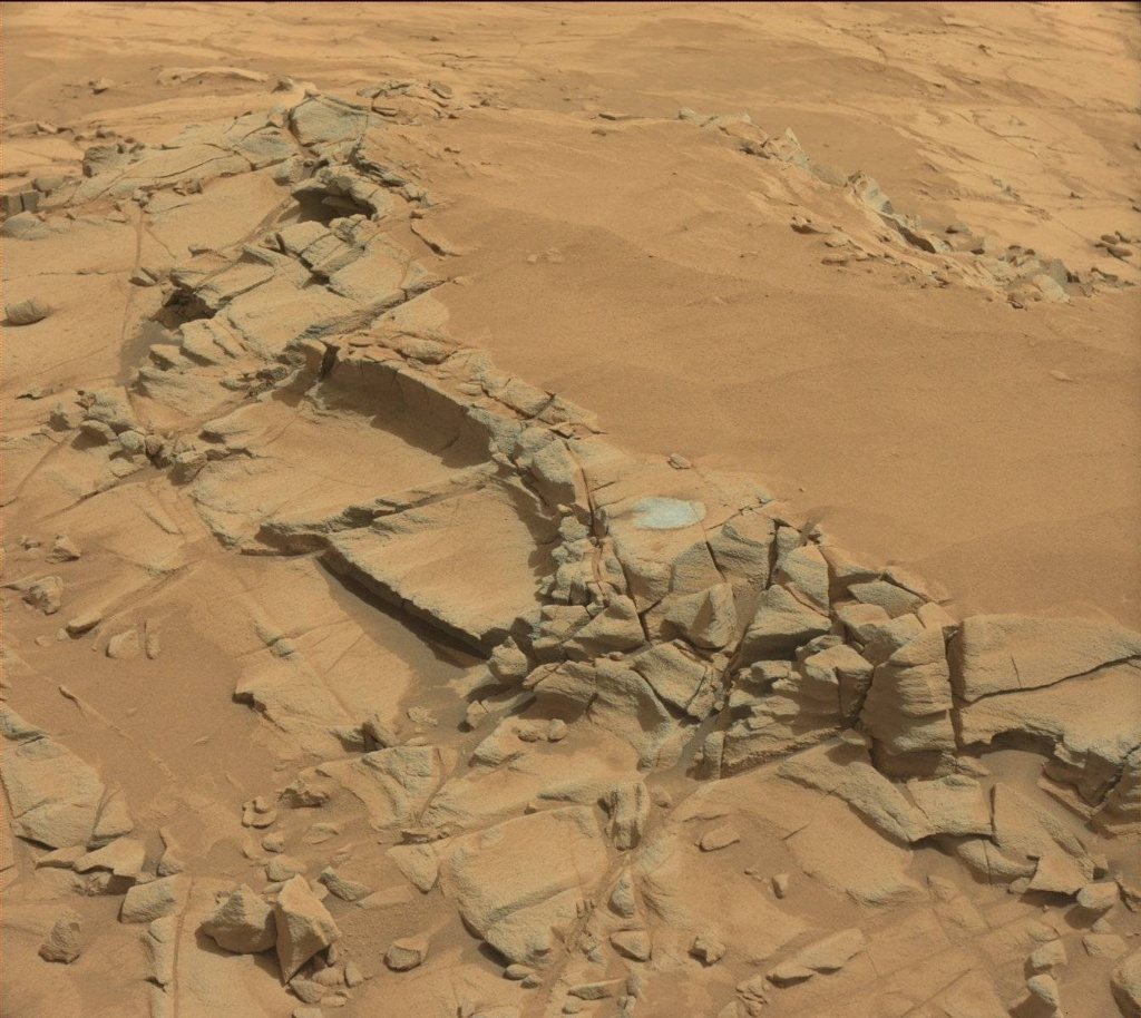 NASA's Mars rover Curiosity acquired this image using its Mast Camera (Mastcam) on Sol 816