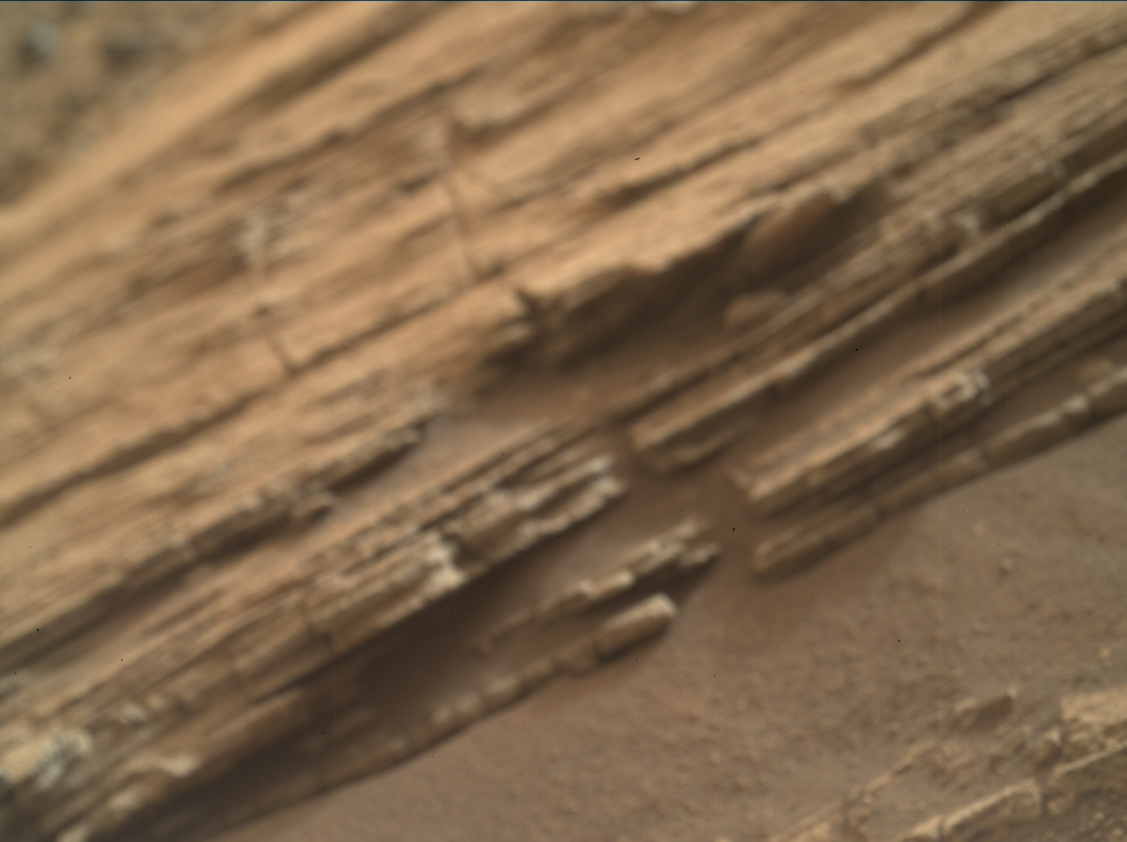 Nasa's Mars rover Curiosity acquired this image using its Mars Hand Lens Imager (MAHLI) on Sol 828