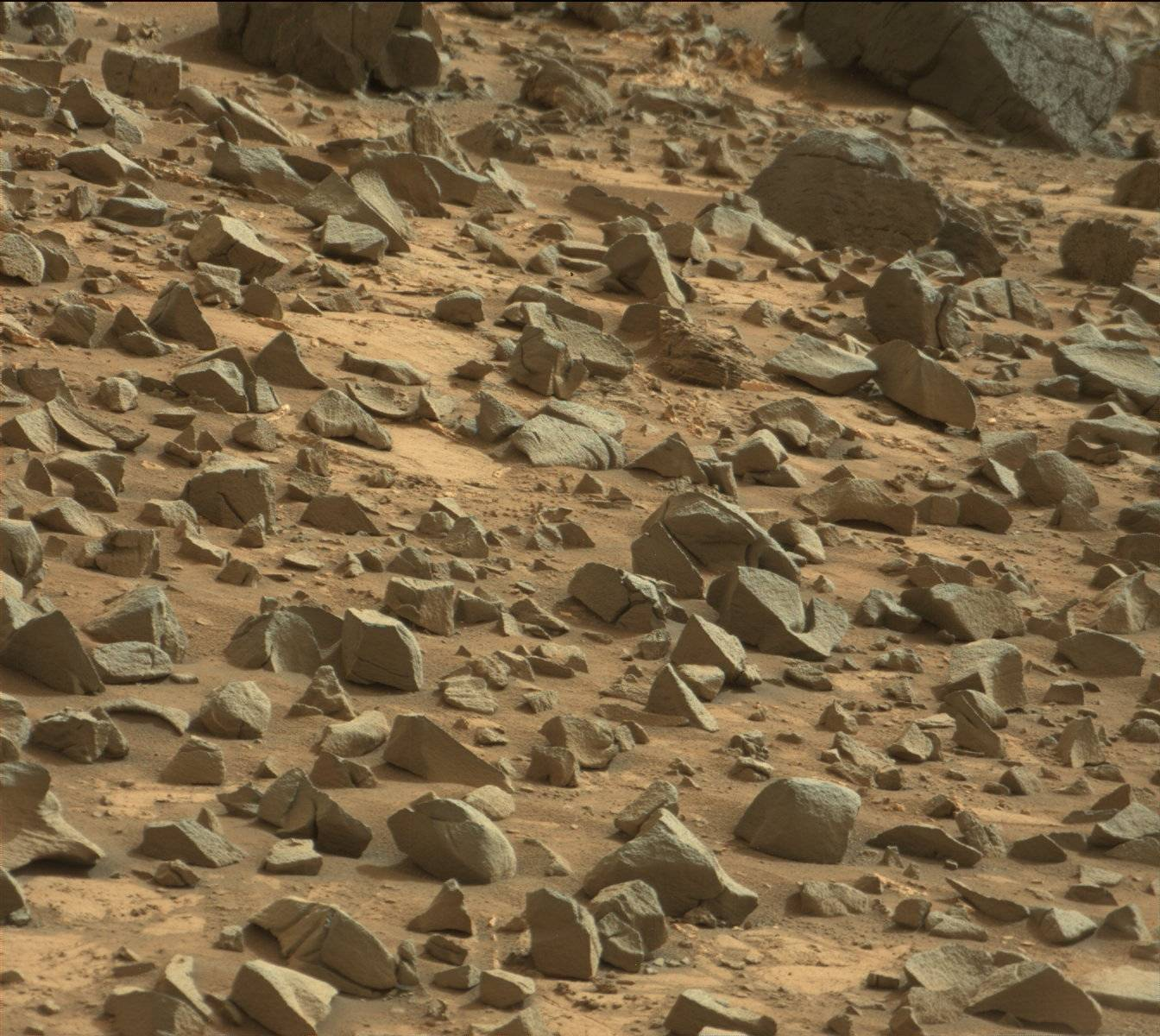 Nasa's Mars rover Curiosity acquired this image using its Mast Camera (Mastcam) on Sol 844