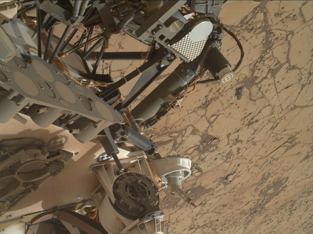 NASA's Mars rover Curiosity acquired this image using its Mars Hand Lens Imager (MAHLI) on Sol 868