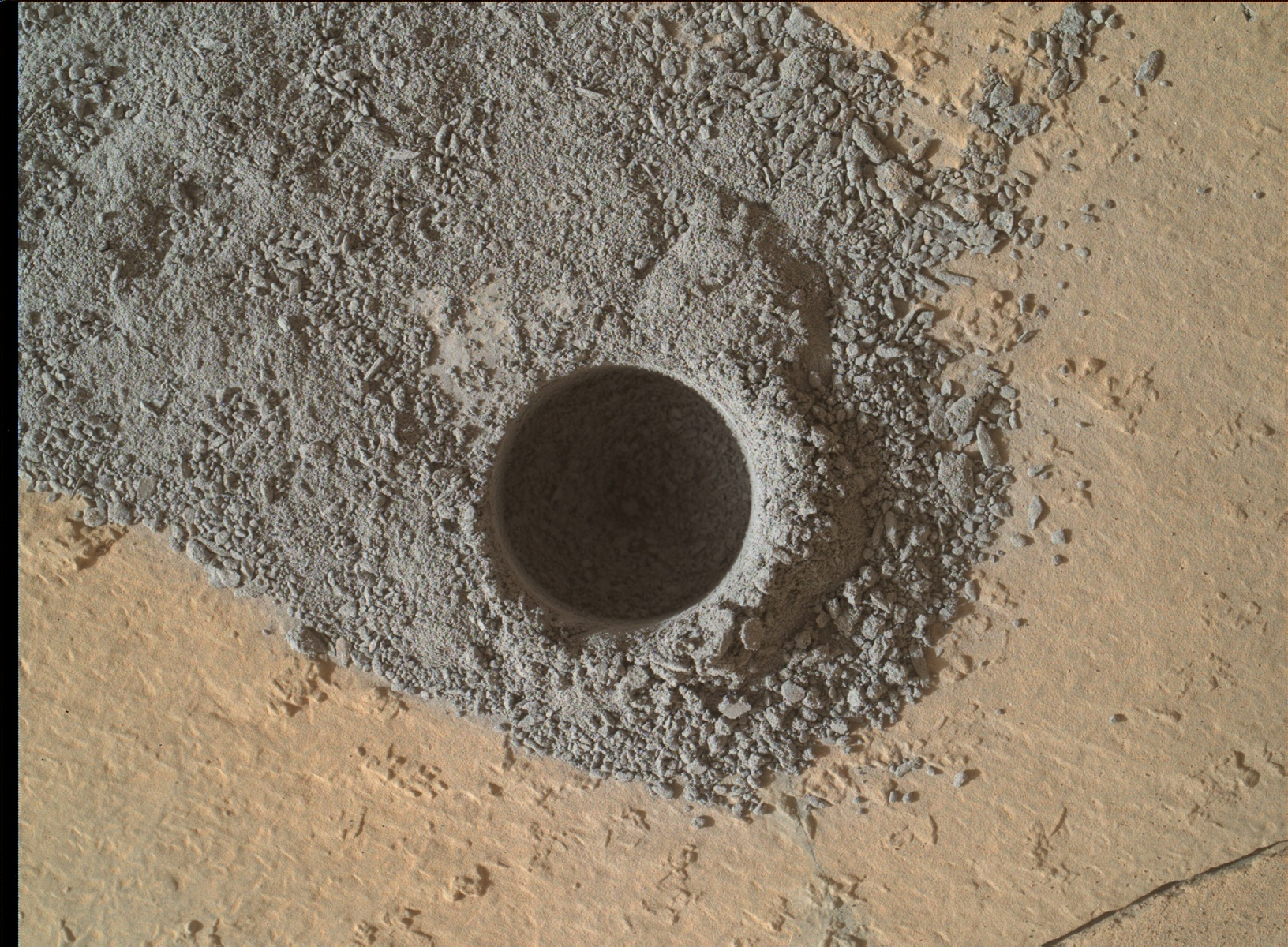 Nasa's Mars rover Curiosity acquired this image using its Mars Hand Lens Imager (MAHLI) on Sol 881