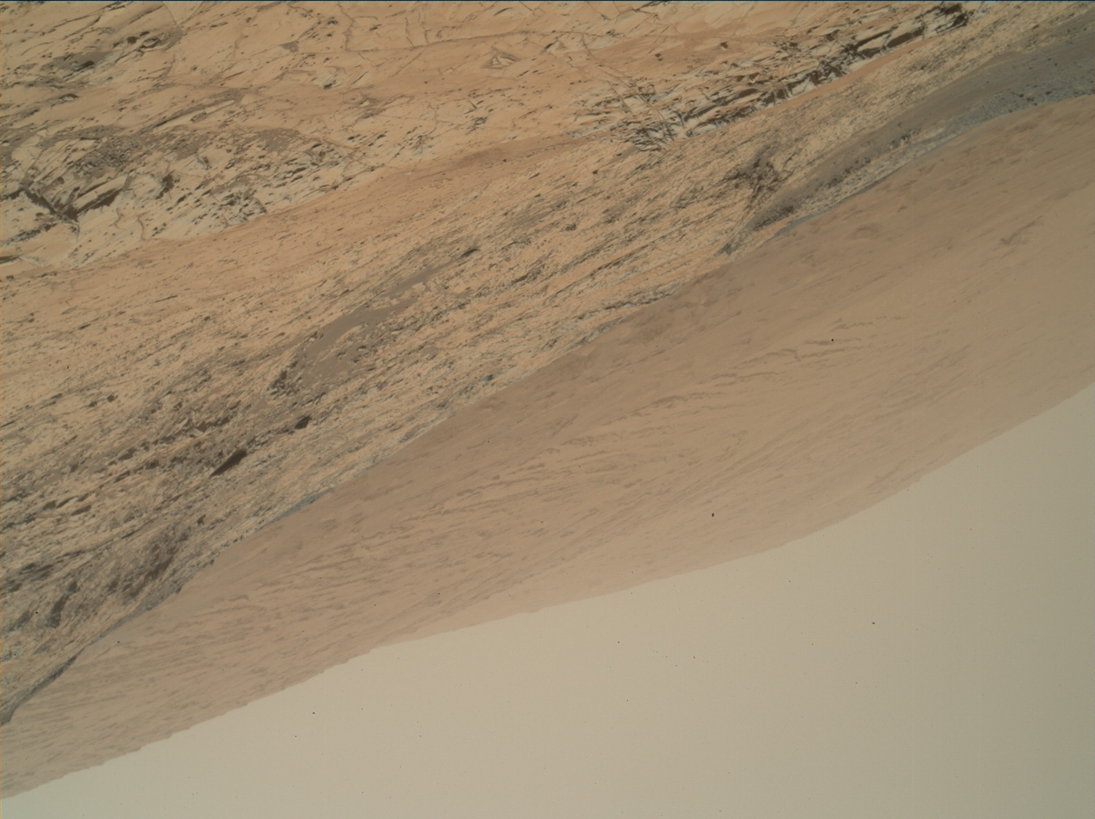 Nasa's Mars rover Curiosity acquired this image using its Mars Hand Lens Imager (MAHLI) on Sol 882