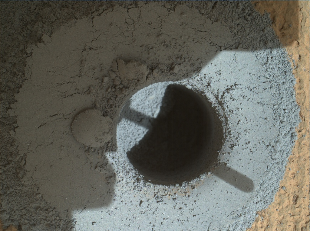 NASA's Mars rover Curiosity acquired this image using its Mars Hand Lens Imager (MAHLI) on Sol 908