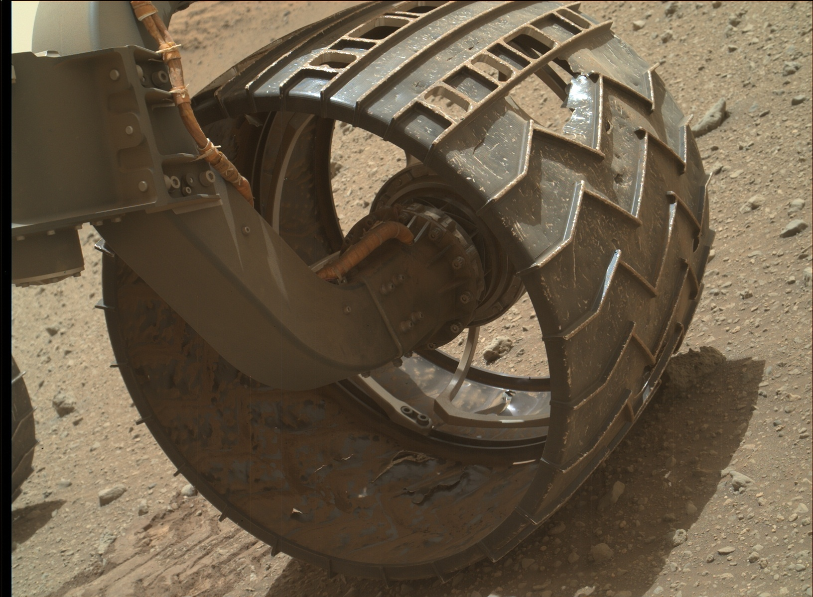 Nasa's Mars rover Curiosity acquired this image using its Mars Hand Lens Imager (MAHLI) on Sol 962