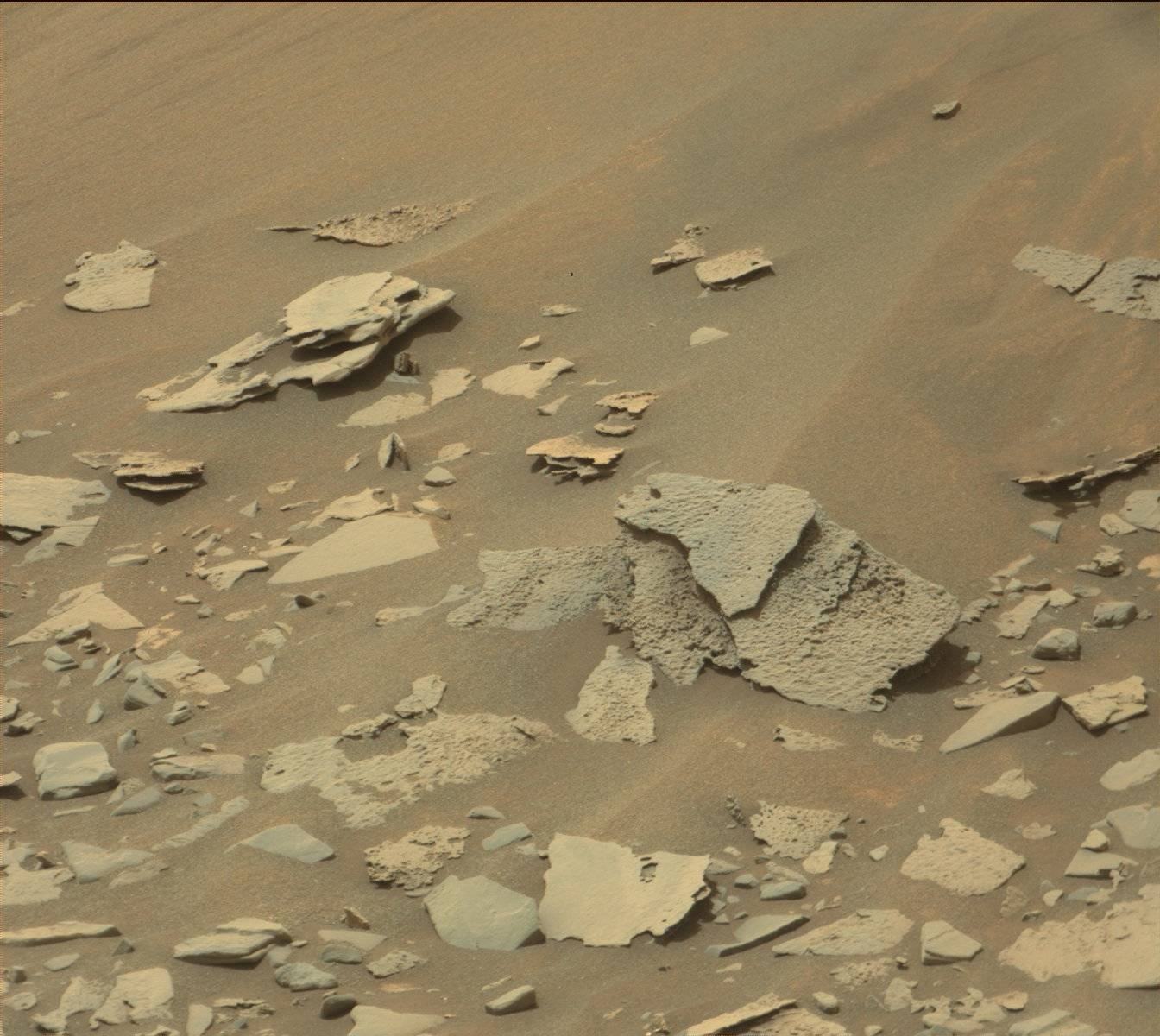 Nasa's Mars rover Curiosity acquired this image using its Mast Camera (Mastcam) on Sol 969