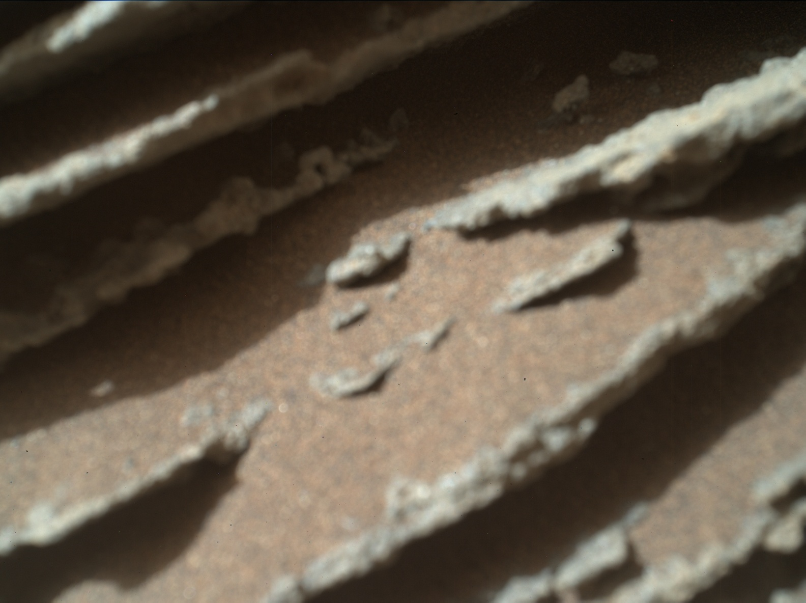 Nasa's Mars rover Curiosity acquired this image using its Mars Hand Lens Imager (MAHLI) on Sol 974