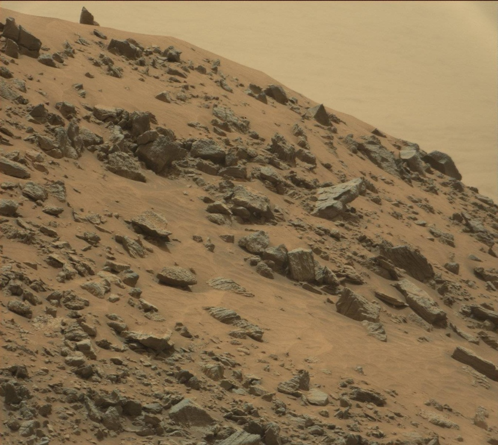 NASA's Mars rover Curiosity acquired this image using its Mast Camera (Mastcam) on Sol 978