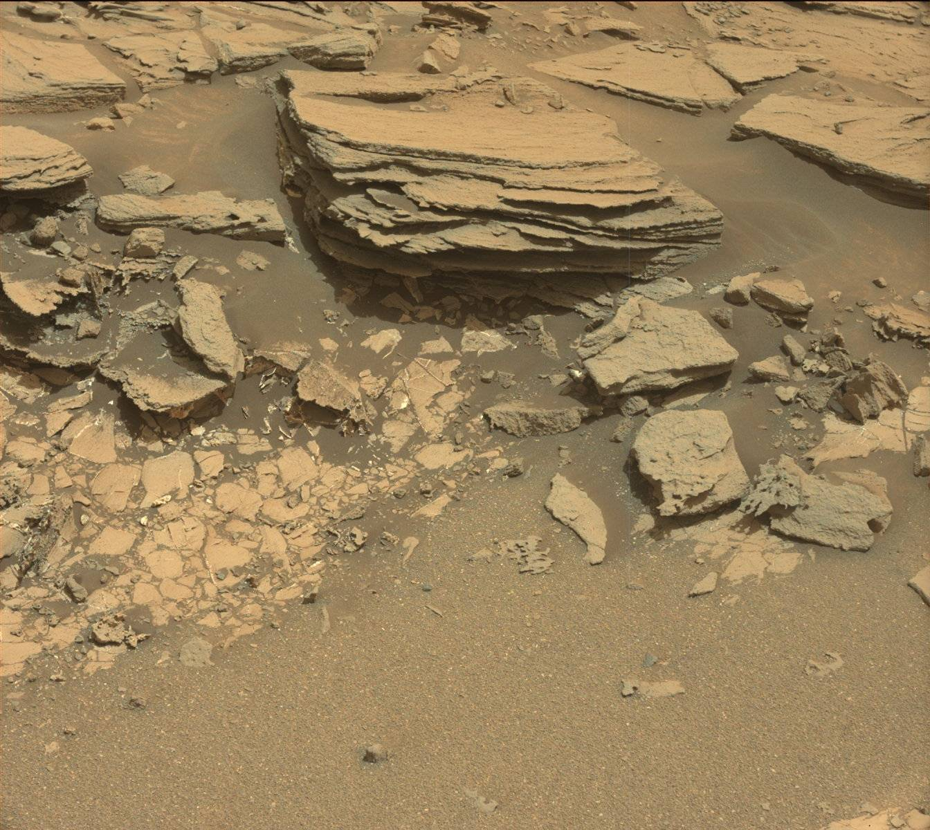 Mastcam image of Ronan Sol 995