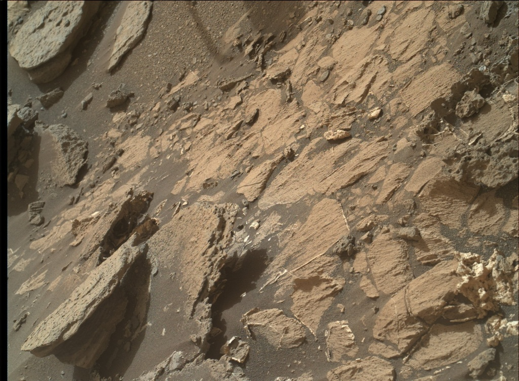 NASA's Mars rover Curiosity acquired this image using its Mars Hand Lens Imager (MAHLI) on Sol 1028